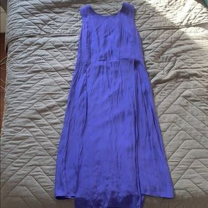 Blue silk Kate Spade Saturday midi dress